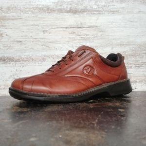 Mens Ecco Oxford Sneaker Shoes SZ 13 47 M Brown